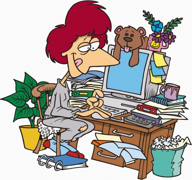 Messy Desk Clipart Clip Art Library for Clip Art Images Messy Desk